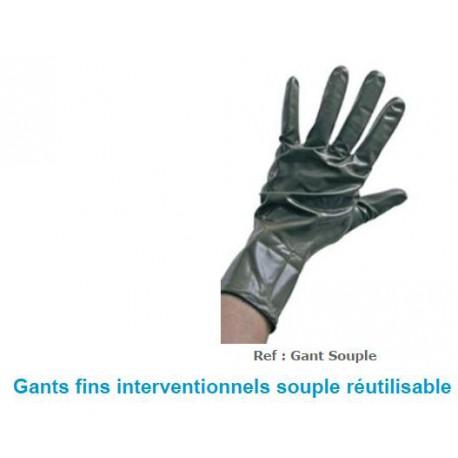 Gants plombés anti-rayons X Souple Réutilisable