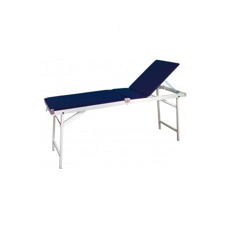 Table de massage ou d'examen valise avec dossier relevable