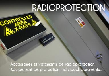 Matériel de radioprotection, équipement de radioprotection